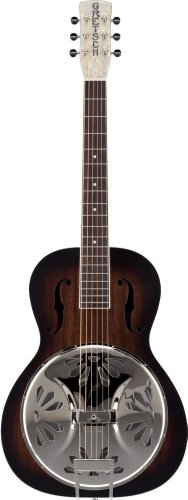 (Gretsch G9220 Bobtail Round-Neck Acoustic-Electric Resonator Guitar - 2 Color Sunburst)