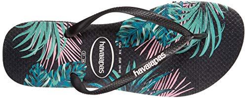 Havaianas Women's Slim Tropical Floral Sandal Black/Pink 35-36 M Bra (Havaianas Pink)