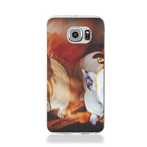 (NALANC Couple of Dogs with Halloween Costume Fashion Samsung Galaxy S7 Case Shockproof and Scratch)