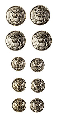 US Army Enlisted Male Button Set, ASU ()