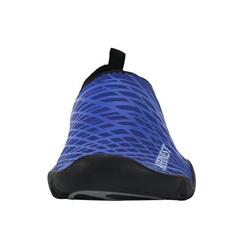 AFFINEST Männer Frauen Aqua Socken Slip-On Wasser Schuhe für Surf Yoga Beach Swim Übung Outdoor Soft Schuhe Blau