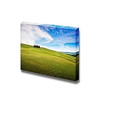 Canvas Prints Wall Art - Scenic Tuscany Landscape, Val d Orcia, Italy Nature Beauty | Modern Wall Decor/Home Decoration Stretched Gallery Canvas Wrap Giclee Print & Ready to Hang - 16
