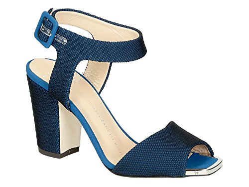 Design Women's Zanotti Fabric Blue Sandals E70030001 Giuseppe OFxWzqwgTx