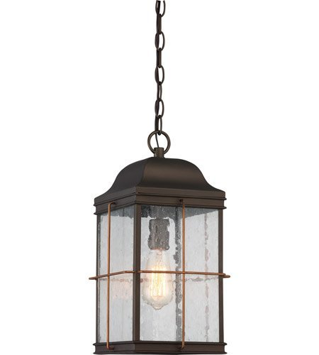 Outdoor Pendant 1 Light With Bronze with Copper Accents Finish A19 Bulb Type 9 inch 60 Watts by Nuvo