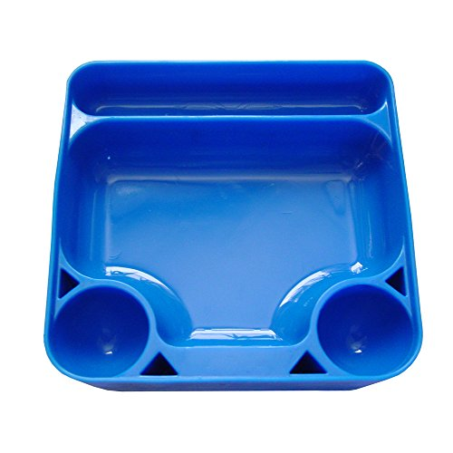 Silicone Tray for Sticky Waxes, Oils and related Tools (Blue, 1) by Dab Dude