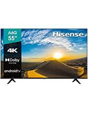 """Hisense 55"""" A6G 4K UHD Android TV con Control de Voz, HDR Dolby Vision (55A6G, 2021)"""