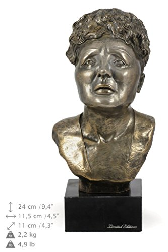 Édith Piaf, Famous French People Statue, Figure on Marble Base, Limited Edition, Artdog
