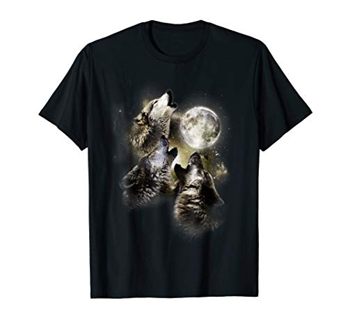 Howling At The Moon Wolves Shirt Cool Kids Boys Girls Animal