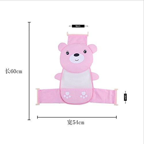 Emmenait bébé Siège de bain Net support douche Sling en maille Bain Cradle Hammock-pink DROVE