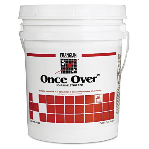 FRKF200026 - Once Over Floor Stripper, Mint Scent, Liquid, 5 Gal. Pail (Once Over Floor Stripper)