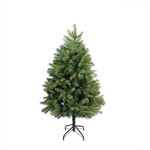 Northlight Pre-Lit Noble Fir Full Artificial Christmas Tree with Multicolored Lights, 4' ()