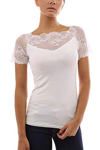 lgant Manches Et Dentelle Slim Pastel pissure Col Shirt Engrener Femme T Blanc Mode Fit Shirts Manche Tops Spcial Haut Style T Rond Courtes Uni Confortable w5q5YzC