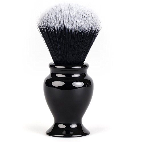 Fendrihan Black and White Synthetic Shaving Brush with Resin Handle for Personal and Professional Shaving (Knot: 22 mm)