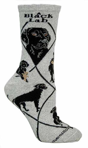 Black Labrador Retriever Cotton Puppy Dog Breed Animal Socks (Labrador Retriever Socks)