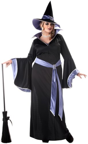 California Costumes Women's Plus Size-Incantasia - Glamour Witch, Black/Purple, 2XL (18-20) -