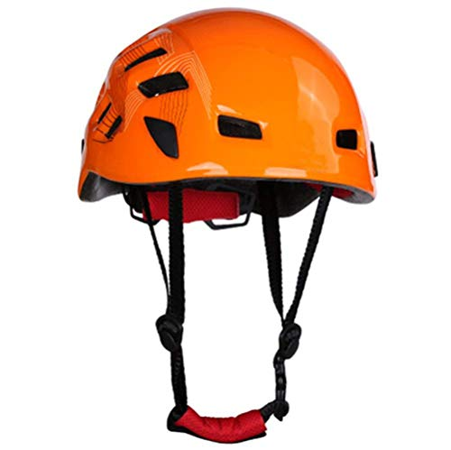 Kedera 2018 Safety Helmet Head Protection Rock Climbing Tree Arborist Abseiling Construction Aerial Work Rappelling Rescue Equipment (Orange)