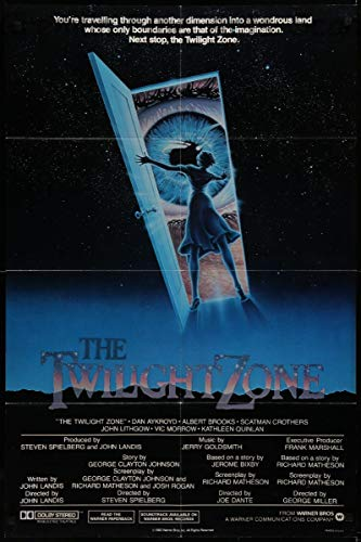 Twilight Zone, The Movie Vintage Steven Spielberg Directed Theatrical Movie Poster 1983