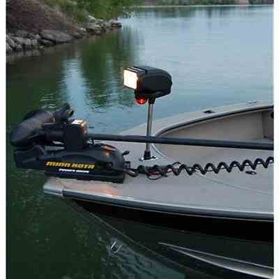 Golight Gobee Bow Mount Searchlight with Red/Green Running Light - Stanchion Mount by Larson Electronics