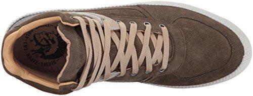 Diesel Heren V S-spaark Mid Sneaker Covert Groen / Zwart / Chinchilla