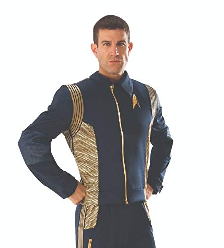 (Rubie's 821204-XL Star Trek Discovery Command Costume Uniform, Gold, X-Large)