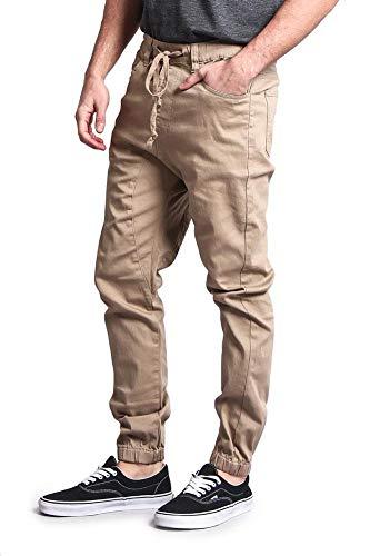 Victorious Mens Twill Jogger Pants (Medium, Wheat)