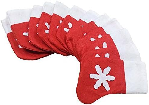 12 unds Fundas estuches cubiertos calcetin Papa Noel para decoracion mesas de navidad de OPEN BUY: Amazon.es: Hogar
