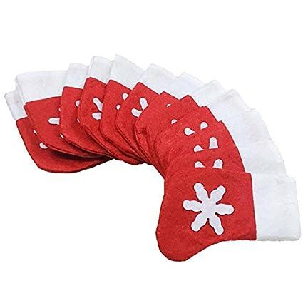 12 unds Fundas estuches cubiertos calcetin Papa Noel para ...