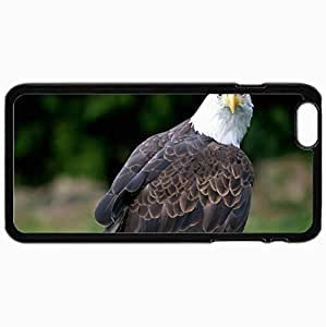 Customized Cellphone Case Back Cover For iPhone 6 Plus, Protective Hardshell Case Personalized Eagle Bald Eagle Vulture Bird Black