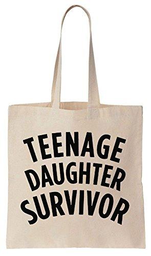 Teenage Daughter Survivor Sacchetto di cotone tela di canapa