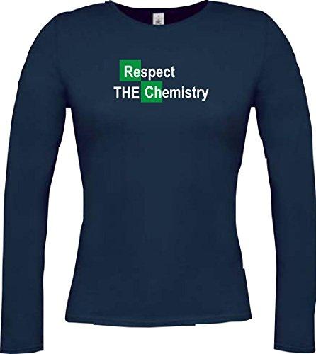 Shirtstown - Camiseta de manga larga - Cuello redondo - para mujer Azul