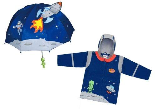 Kidorable Space Hero Rain Coat And Umbrella Set (3t) by Kidorable