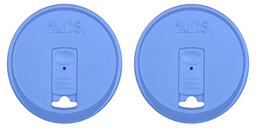 ILIDS Mason Wide Mouth Jar Drink Lid (2 Pack), Periwinkle