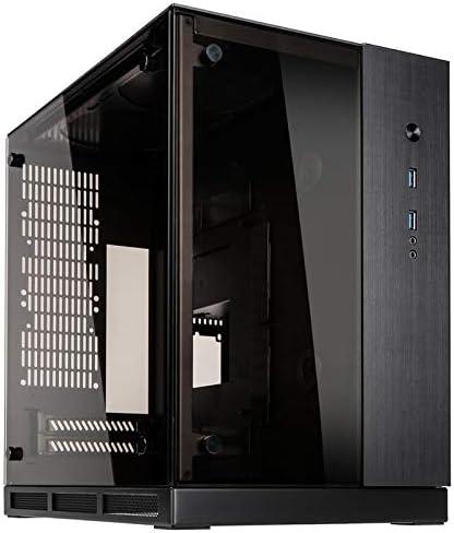Lian Li PC-Q37 Mini-Tower Negro Carcasa de Ordenador - Caja de Ordenador (Mini-Tower, PC, Aluminio, Vidrio Templado, Mini-ITX, Negro, 13 cm): Amazon.es: Informática
