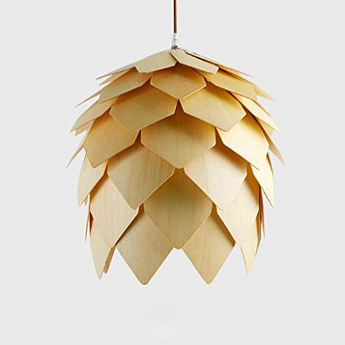 Modern Chandeliers Ceiling Lights Pendant Contaemporary Style Pinecone Pendant Light Hanging Wood Artichoke Lamps Dinning Room Restaurant Retro Fixtures Lumin
