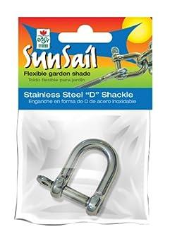 1 Unit Easy Gardener 10988 Stainless Steel D-Shackle Sun Sail Accessory