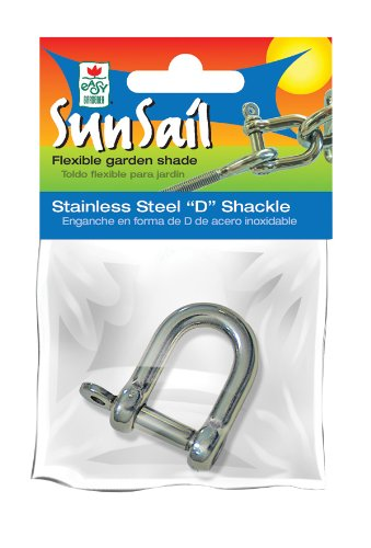 Easy Gardener Stainless Steel D-Shackle (Hardware to Install Sun Sail Fabric) -