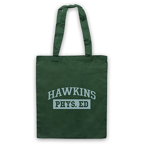 Stranger Things Hawkins Phys Ed Bolso Verde Oscuro