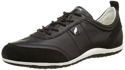 Blackc9999 Vega Negro para Geox Mujer Zapatillas D a 0wZx8Opq