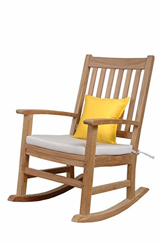 Anderson Teak Palm Beach Collection Rocking Armchair Without Cushion For Sale