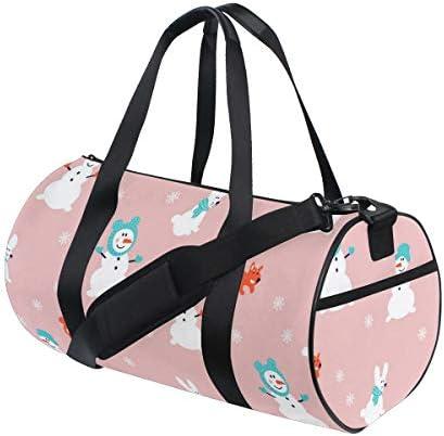 ボストンバッグ 雪だるま クリスマス ピンク かわいい ジムバッグ ガーメントバッグ メンズ 大容量 防水 バッグ ビジネス コンパクト スーツバッグ ダッフルバッグ 出張 旅行 キャリーオンバッグ 2WAY 男女兼用