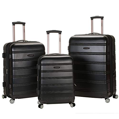 Rockland Melbourne 3 Pc Abs Luggage Set, Black
