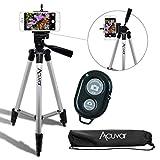 "Acuvar 50"" Inch Aluminum Camera Tripod with Universal Smartphone Mount + Bluetooth Wireless"