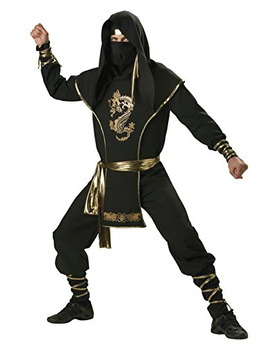 Mens Theatre Costumes Ninja Warrior Costume Japanese Martial Arts Asian Costume Sizes: X-Large - East Halloween Costume Ideas