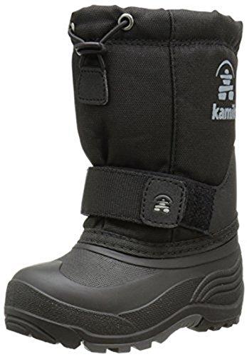 [Kamik Rocket Cold Weather Boot (Toddler/Little Kid/Big Kid),Black,7 M US Big Kid] (Boots For Boys)