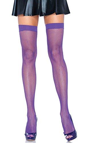 Leg Avenue Womens Nylon Fishnet Thigh Highs -