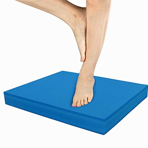 IADUMO Balance Pad Foam Multipurpose Knee Mat Nonslip Stability TPE Cushion Fitness Exercises Mat for Physical Therapy,Yoga,Balance Training, Rehab,Travel Mat,Gardening Work. (Blue)