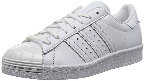 Femme Adidas 80's Blanc Baskets Metal Mode Toe Superstar 4IIgRrqZ