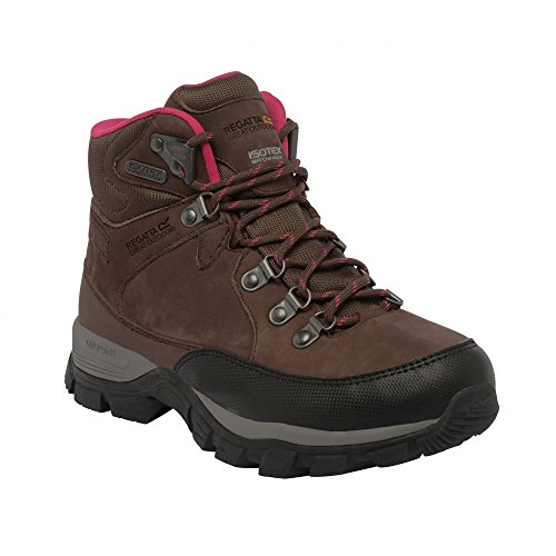 Regatta Borderline - Chaussures montantes de randonnée imperméables - Femme (37 EU) (Noix)