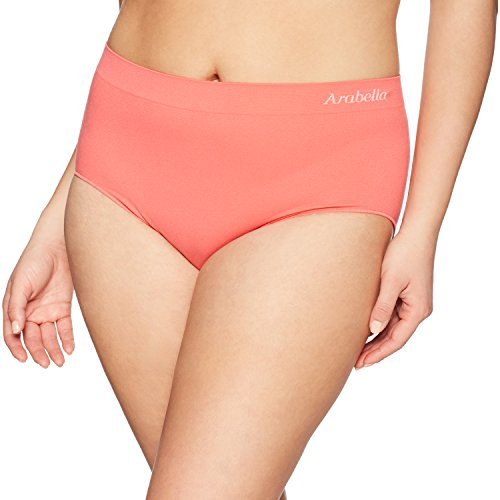 Arabella Women's Seamless Brief Panty, 3 Pack,Navy/Calypso Pink/Creole Pink,X-Large