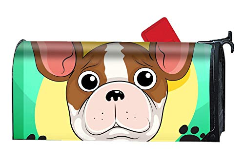 BYUII Magnetic Mailbox Cover - Cute Pitbull Themed, Decorative Mailbox Wrap for Standard Size